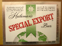 OLD USA BEER LABEL, HEILEMAN BREWING Co LA CROSSE WISCONSIN, SPECIAL EXPORT