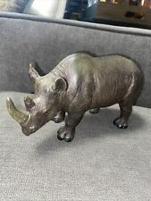 Rhinoceros Figurine Resin Statue 8�x5� African Safari Home Living Room Decor
