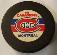 MONTREAL CANADIENS NHL OFFICIAL TRENCH MFG. VEGUM SLOVAKIA OLD STYLE HOCKEY PUCK