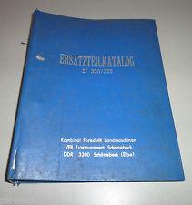 Parts Catalog Fortschritt Tractor Zt 320-A / Zt 323-A, Stand 12/1985