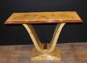 Art Deco Oggee Hall Table Birdseye Maple 1920s Console Tables