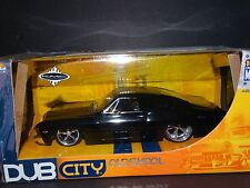 1967 Chevy Impala SS 427 Blk 1:24 Scale Diecast Model Car Jada Oldskool Dub City