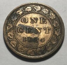 Canada 1884 Large One Cent Coin - Queen Victoria