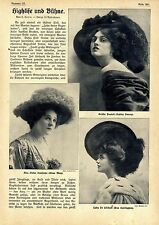 """J. lorm Highlife and stage """"Twelve Large gibsongirls"""" text & image documents v.1909"""