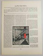 1931 Magazine Photo Railroad Stop Signal from 1860 Train Engineer
