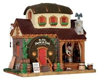 New Lemax Village Collectables -Ye Olde Barrel & Cask Makers House -Mini  Garden