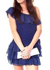 Mini Chiffon Dresses for Women with Ruffle