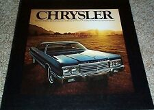 1973 chrysler sales brochure. New Yorkerbrougham,Town & Country Newport