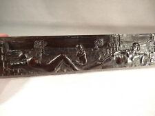 ANCIEN ELEMENT DE CABINET EN EBENE SCULPTE EPOQUE XVII ème