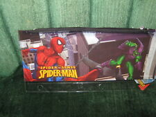 """The Amazing Spider-Man Plastic Pencil Case (2011) """"NWT"""" Holes for Binders"""