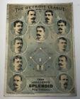 1886 Detroit Baseball Club Tobacco Victorian Trade Card Lorillard's Chew