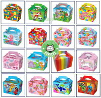 Childrens Party Food Boxes Loot Lunch Cardboard Kids Happy Birthday Girls Boys