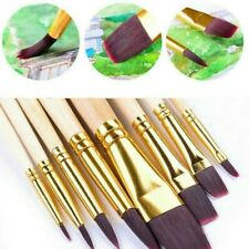 8 X Watercolor Paint Brushes Nylon Hair Oil Painting Brush Drawing Art Supplies