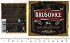 Beer Label - Kralovsky Brewery - Czech Republic - Krusovice Cerne (Dark)