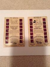 Tru-Vue 1953 Film Cards, Donald Duck & Mickey Mouse lot of 2 Walt Disney