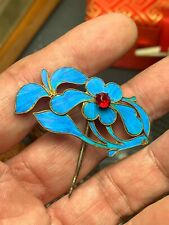 Antique Chinese kingfisher's feathers Hair pin