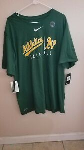 Oakland Athletics A's T-Shirt tee Size 3XL NWT Made by Nike Cotton/Poly Dri-Fit
