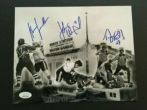TERRY O'REILLY, JOHN WENSINK,STAN JONATHAN 8X10 AUTOGRAPHED FIGHT PHOTO J.S.A.