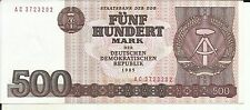 GERMANY DDR 500 MARKS 1985  P 33. aUNC CONDITION. 5RW 09MAI