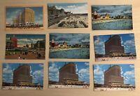 Lot of 9 Atlantic City Vintage Postcards Ritz-Carlton Ambassador Hotel Beach