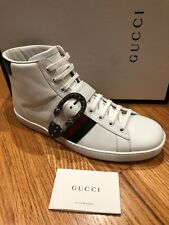 32f000acea2 NIB AUTHENTIC MEN GUCCI Dionysus WHITE HIGH TOP SNEAKER UK 10 US 11 Shoes  New