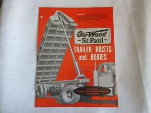 1956 Garwood St. Paul trailer hoists and bodies brochure