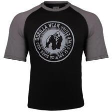 Gorilla Wear Texas T-Shirt – Black/Dark Gray Bodybuilding Fitness M - 4XL