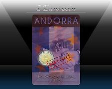 ANDORRA 2 EURO 2015 (2016 - Customs Agreement) Commemorative coin (CoinCard)  BU