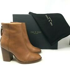 NIB $525 Rag & Bone Ashby Ankle High Tan Boot size: US 8 EU 38