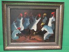 Haitian Artist Kesnel Franklin (1945-1978) Voodoo Ritual Oil Painting