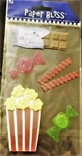 TREATS Chocolate Hard Candy Licorice Popcorn Snack Paper Bliss Stickers