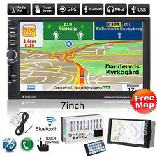 """7""""GPS Nav 2DIN Bluetooth Touch Car Stereo Radio MP3 MP5 Player FM/USB/TF/AUX+Map"""