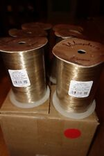 Lot of 6 100yd 1800 feet (600 yards)  Kraft Tan Pearlized Wraphia Raffia Ribbon