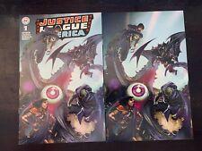 Justice League of America #1 Crain variant Trade + virgin DC 2018 NM 9.4