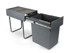 Emuca Pull Out Kitchen Cabinet Unit Waste Bin 20 Litres - 8199323