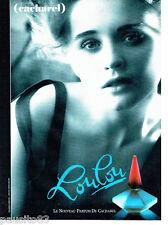 PUBLICITE ADVERTISING 046  1988   Loulou  parfum Cacharel par Sarah Moon