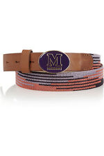 NEW,M.MISSONI MULTICOLOURED CROCHET-KNIT BELT