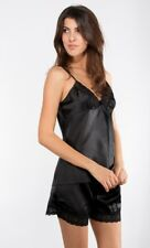 SET CAMISOLE SATIN + SHORTS LINGERIE TOP SEXY NIGHT PAJAMAS WOMAN T. SML XL