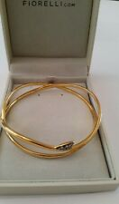 Fiorelli 925 Silver Gold Plated Bangle