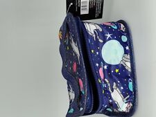 Makeup Bag Decorated with Cats in space