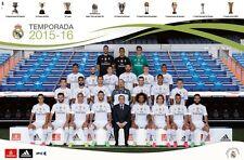"Real Madrid 2016 Football Soccer Ronaldo Team Poster 22"" x 34"" RP14460 SEALED"