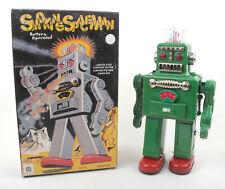 Ha Ha Toys China Tin Battery Op Smoking Spaceman Robot * BOXED *