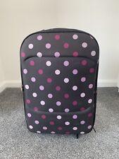 Medium Wheeled Suitcase Purple Spot Print Medium Wheeled Luggage Expandable