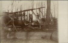 Lumber Logging Operation c1910 Real Photo Postcard - Occupation