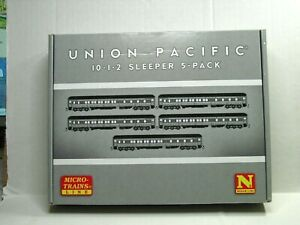 MICRO-TRAINS N SCALE HEAVYWEIGHT PASSENGER CAR 5 PK UNION PACIFIC 99301820