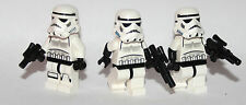 LEGO original STAR WARS - 3 STORM TROOPERS + BLASTERS - RARE HELMET AND TORSOS