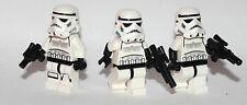 LEGO original STAR WARS - 3 STORM TROOPERS + BLASTERS - RARE HELMET AND TORSOS