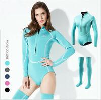 Sexy 2MM Neoprene Wetsuit Womens One Piece Long Sleeve Scuba Diving Wet Suit