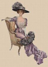 Cross Stitch Chart - Victorian Lady in Chair 80 TSG37