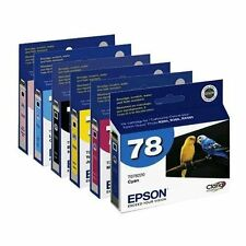 6pk New Genuine Epson 78 Ink Cartridges for Epson Artisan 50 R260 R280 R380